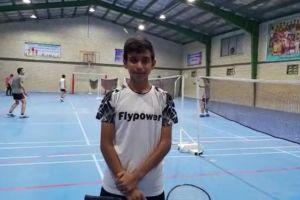 هرمز آهوی زرین، ورزشکار جناحی راه یافته به تیم ملی بدمینتون رده نوجوانان