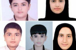 راهیابی پنج دانش آموز منطقه جناح به مرحله کشوری جشنواره علمی پژوهشی