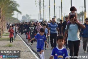 برگزاری همایش بزرگ پیاده روی خانوادگی در شهر جناح